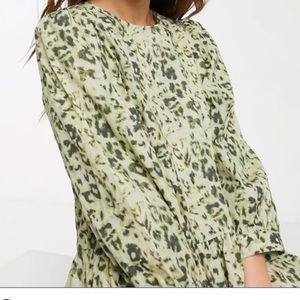 ASOS leopard print maxi dress